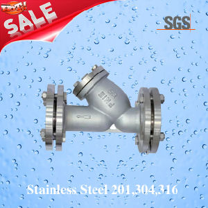 Ss304 Y Type Strainer, Flange Y Type Strainer, Stainless Steel Y Type Thread Strainer pictures & photos