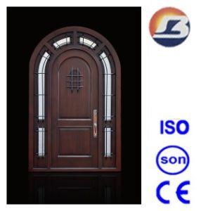 Special Design Exterior Meranti Solid Wooden Door pictures & photos
