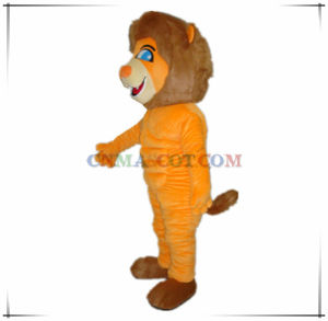 Perfect Muscle Orange Color Lion Mascot From China Factory pictures & photos