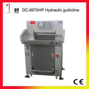 DC-8670HP Hydraulic Paper Guillotine Cutter Machine, Paper Cutting Machine