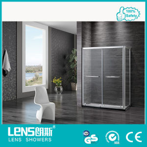 8mm Tempered Glass Rectangle Frame Double-Sliding Door Shower Room Norman E32