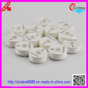 100% Polyester White Pre-Wound Bobbin Thread (XDBT-001) pictures & photos