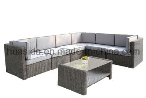 Powder Coated Aluminum Rattan Combinated Sofa Set pictures & photos