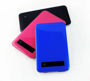 Slim Polymer Power Bank with Various Color-4000mAh pictures & photos