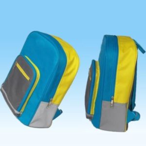 Two Colors Polyester School Children Bags pictures & photos