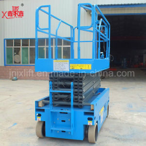 10m Hydraulic Battery Power Moving Scissor Lift Platform pictures & photos