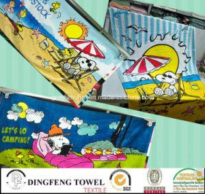 100% Cotton Velour Reactive Printed Beach Towel Df-3597 pictures & photos