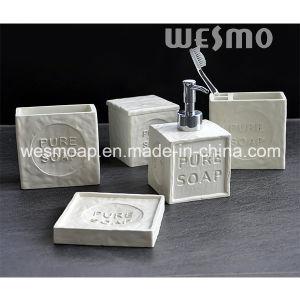 Soap Shape Polyresin Bathroom Set (WBP0933A) pictures & photos