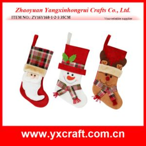 Christmas Decoration (ZY16Y168-1-2-3 35CM) Christmas Holiday Name Sock pictures & photos