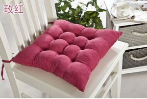 Polyester Suede Chair Cushion with Handage pictures & photos