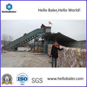 Horizontal Waste Paper Baling Machine with Conveyor (HSA4-6) pictures & photos