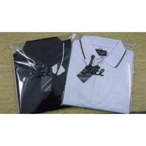 New Brand Dry Fit Black/White Men′s Golf T Shirt pictures & photos