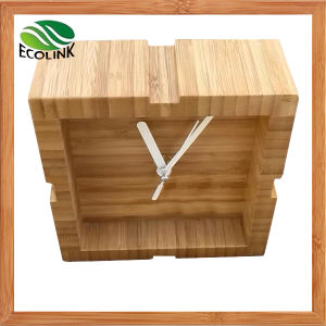 Bamboo Small Desk Clock / Table Clock for Home Decorative pictures & photos