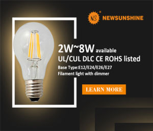 Ce RoHS A60 800lm Ra90 8W Filament Global Bulb LED Lamp