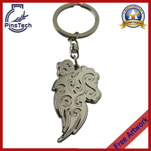 Silver Finish Metal Keychain, OEM Keychain Manufacturer pictures & photos