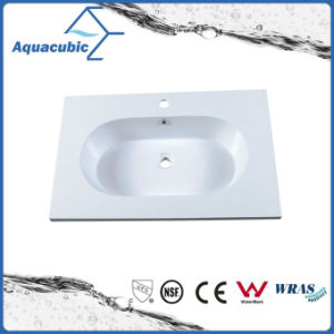 High Quality Artificial Marble Bathroom Sinks Acb0808 pictures & photos