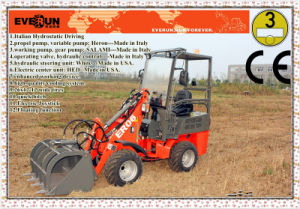 CE Certification Everun Er08 Mini Wheel Loader with Pallet Forks pictures & photos