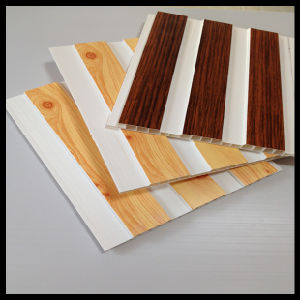 Hotest Wooden Color PVC Panels (HN-2510) pictures & photos