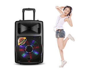 OEM 10 Inches Plastic Active Trolley MP3 Speaker with Battery pictures & photos