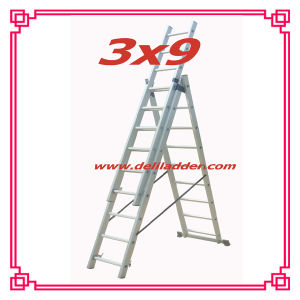 3 Section Extension Ladder 3x9 pictures & photos