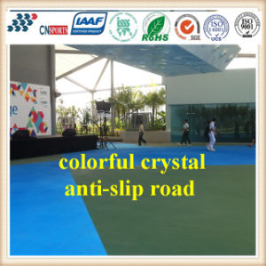 Cn-C05 Micro Channel Structure Color Crystal Anti Slip Road Flooring pictures & photos