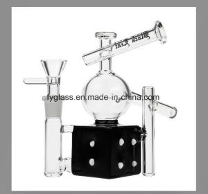 Black Leaf Stemless Glass Dice Recycler Bubbler pictures & photos