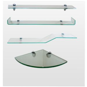 6mm 10mm Flat Polished Frosted Acid Etched Coner Shelf Glass for The Bathroom pictures & photos