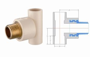 CPVC ASTM2846 Pipe Fitting Male Tee Copper Thread (G16) pictures & photos