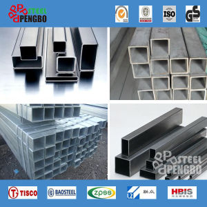 SUS316L Stainless Seamless Steel Square Pipe pictures & photos