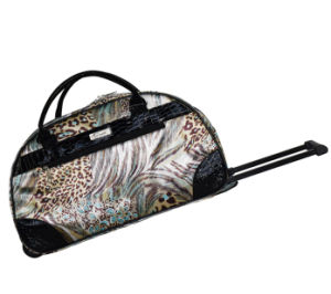 Good Quality PU Trim Trolley Duffle Bag pictures & photos