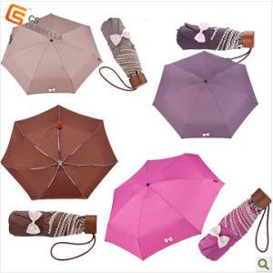 4 Fold Aluminum Frame Pongee Fabric Umbrella (YS-4F1001A)