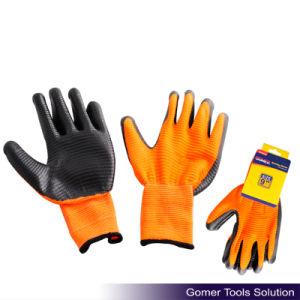 Zebra-Stripe Black Nitrile Coated Glove