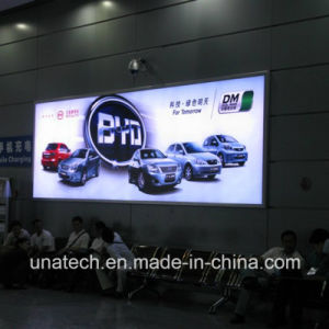 Flex Aluminium Frameless Airport LED Media Signage Wall Mounted Mesh Fabric Light Box pictures & photos