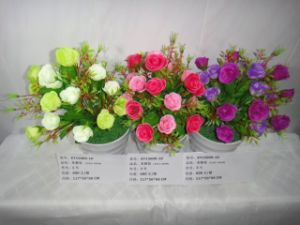 High Quality of Artificial Flowers Rose Bush of Gu-Jy912204343 pictures & photos