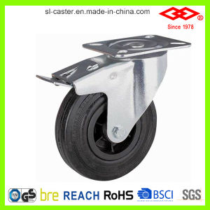 "10"" Swivel Locking Black Rubber Industrial Castor (P101-31D250X60S) pictures & photos"