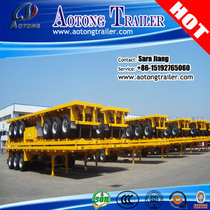 CCC ISO Tri Axles 40FT Flatbed Container Semi Trailer pictures & photos