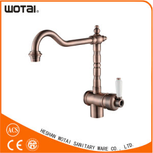 Hot Sale Red Bronze Antique Style Kitchen Faucet pictures & photos