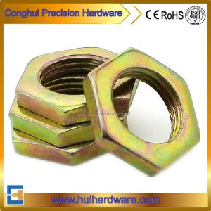 Carbon Steel Hex Thin Nuts with Color Zinc Plated pictures & photos
