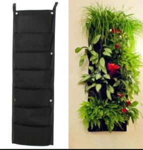 7 Pocket Indoor Outdoor Wall Hanging Planter Bags Plant Grow Bags pictures & photos
