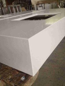 Good Quality Beige Quartz Stone for Vanity Tops pictures & photos