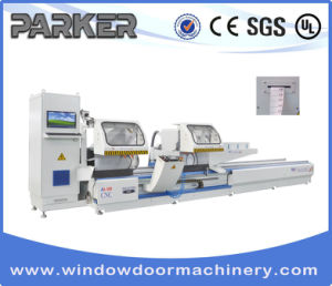 CNC Aluminum Window Door Three Axis Double Head Any Angle Cutting Saw pictures & photos