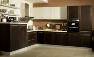 New Design Wood PVC Lacquer Kitchen Cabinet Made in China (zc-023) pictures & photos