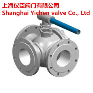 Stainless Steel CF8m Three Way Flanged Ball Valve pictures & photos