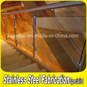 Indoor Stainless Steel Handrail Clear Glass Balustrade pictures & photos