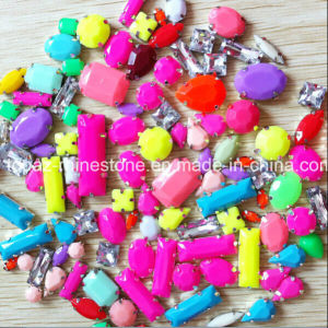 Claw Rhinestone Sew on Neon Acrylic Stone Fluorescence Color pictures & photos