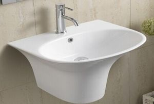 Ceramic Wall Hung Bathroom Basin (5100) pictures & photos