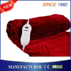 Flannel Electric Over Blanket with Over Heat Protection pictures & photos
