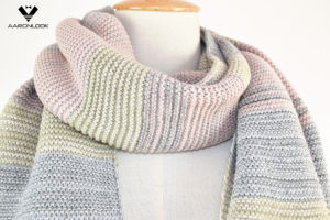 Hot Style Multicolor Stripe Knitting Winter Trendy Scarf pictures & photos