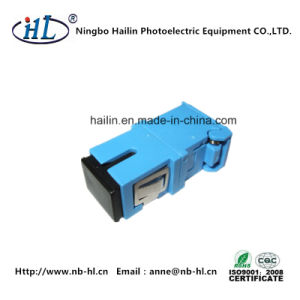 Fiber-Opticalal Communications SC/PC Fiber Optic Adapter with Shutter pictures & photos