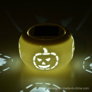 Solar Powered Hallowmas Ceramic Light pictures & photos